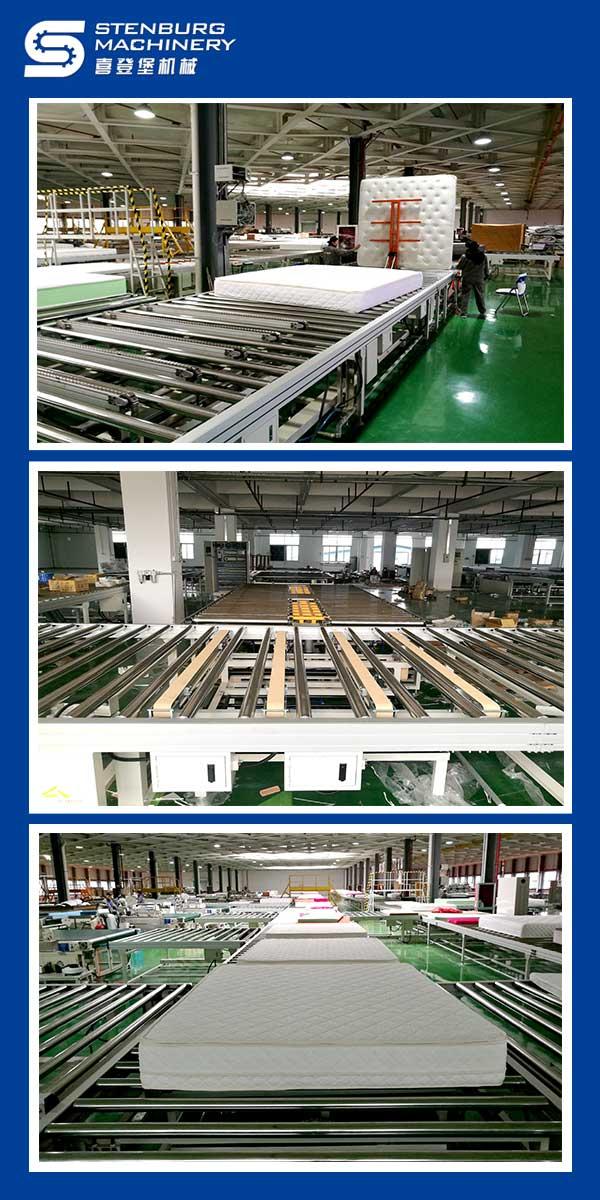 Linha automática de produção de colchões